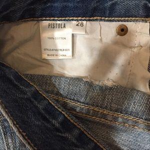 pistola Shorts - Pistola-Denim, Distress shorts size 28